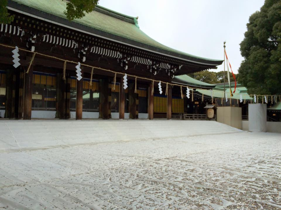 遠藤誠の自宅近所の明治神宮。ここに遠藤は毎朝参拝に行っている。