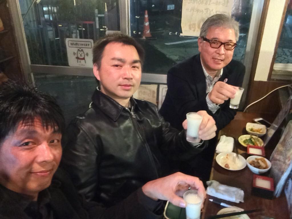 リズムードのメンバー。右から松武秀樹、遠藤誠、高田 展弘。